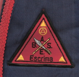 Bay Area School of Eskrima patch, ca. 1983